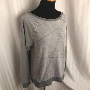 Lululemon grey with geometric patterns
